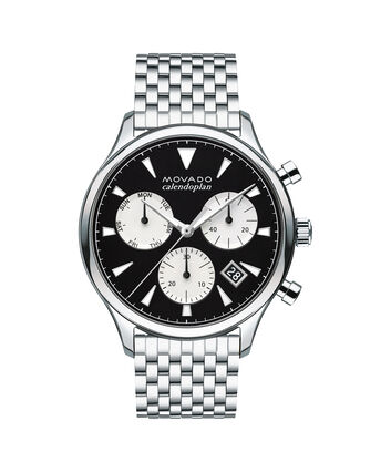 MOVADO Movado Heritage Series3650014 – Men's 43 mm bracelet chronograph - Front view