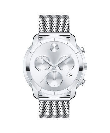 MOVADO Movado BOLD3600371 – 44 mm flat mesh bracelet chrono - Front view